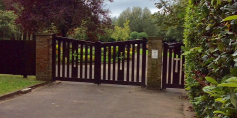 photograph of the cemetery gates